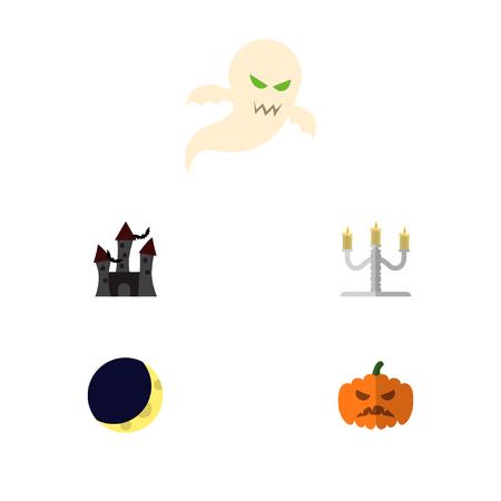 Halloween elements vector set.