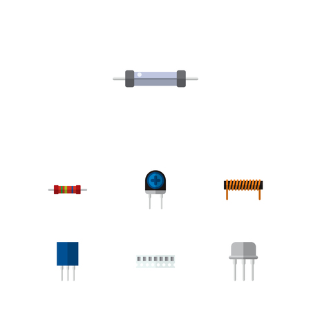 Icon flat electronics set.