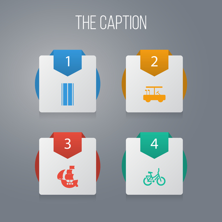 Icon transportation set of vessel, bicycle, avenue and other vector objects. Also includes leisure, golf, lifestyle elements.