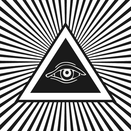 Eye of Providence, Masonic and esoteric symbol. Vector illustration.