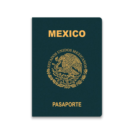 Passport of Mexico. Vector illustration Illusztráció