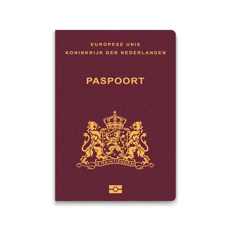 オランダのパスポート。ベクトル図