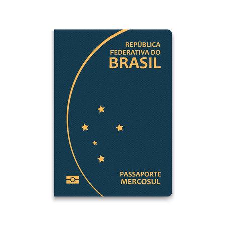 Passport of Brazil. Vector illustration