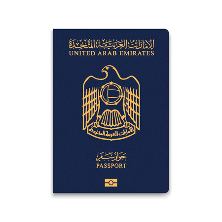 Passport of United Arab Emirates. Vector illustration Stock fotó - 97221744
