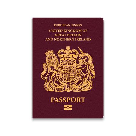Passport of United Kingdom. Vector illustration Vectores
