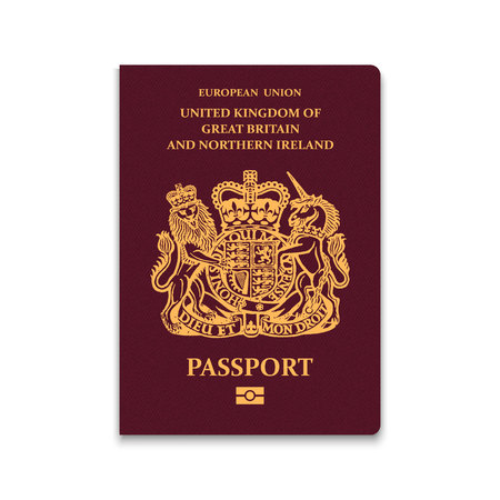 Passport of United Kingdom. Vector illustration 向量圖像