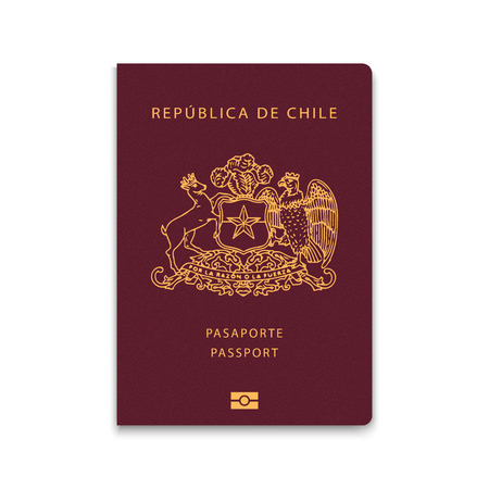 Passport of Chile. Vector illustration  イラスト・ベクター素材