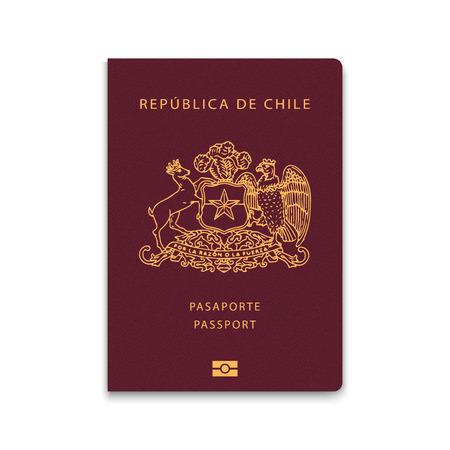 Passport of Chile. Vector illustration