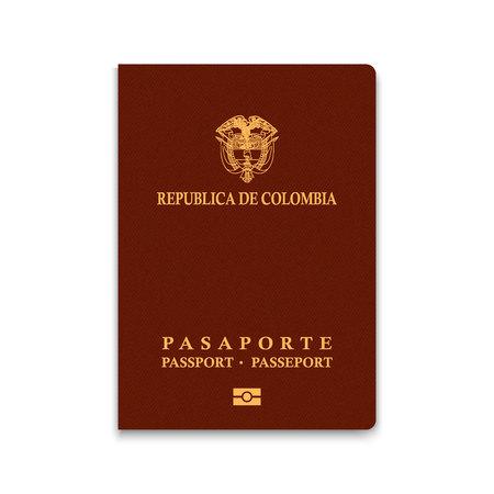 Reisepass von Kolumbien. Vektor-illustration
