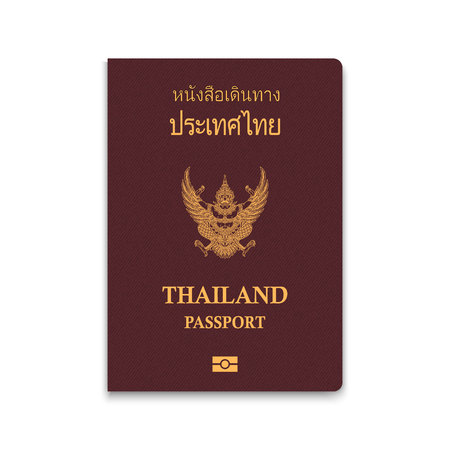Passport of Thailand. Vector illustration