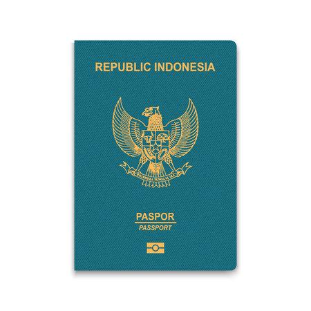 Passport of Indonesia. Vector illustration Vettoriali