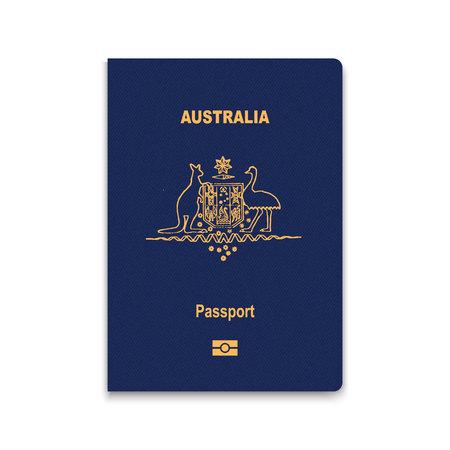 Passport of Australia. Vector illustration