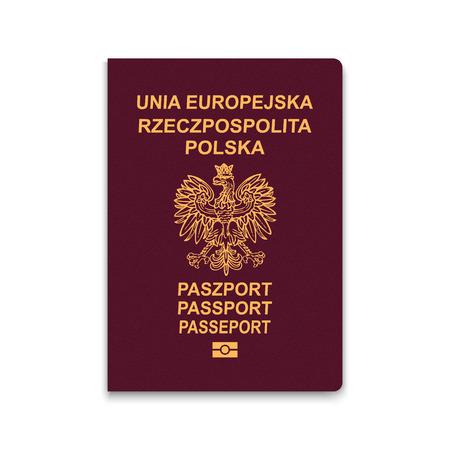 Passport of Poland. Vector illustration Vettoriali