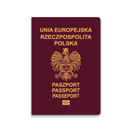 Passport of Poland. Vector illustration Illusztráció