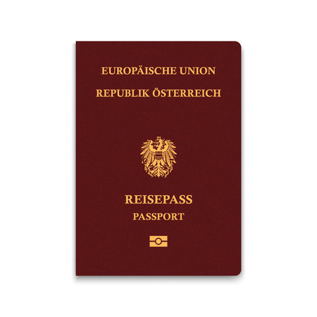 Passport of Austria. Vector illustration