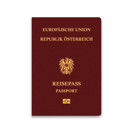 Paspoort van Oostenrijk. Vector illustratie
