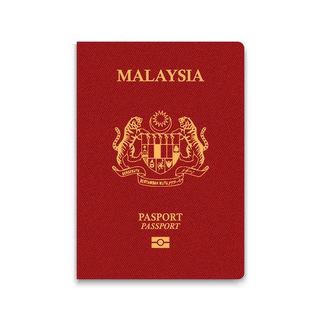Passport of Malaysia. Vector illustration Stock Illustratie