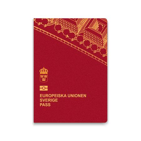 Passport of Sweden. Vector illustration