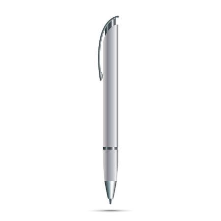 Blank pen isolated on white background Illustration