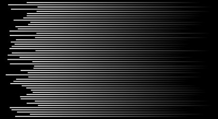 Speed lines on black background. Vector illustration Vectores
