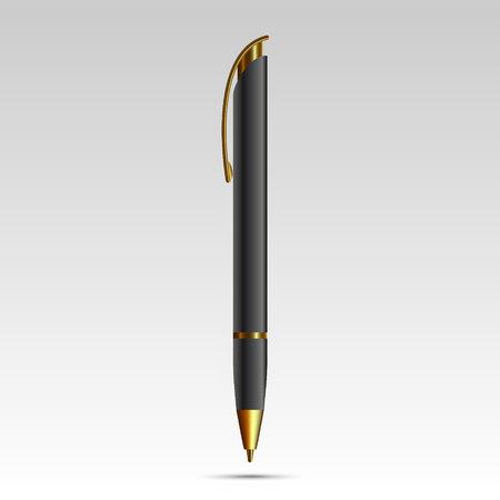 Blank pen isolated on white background illustration.