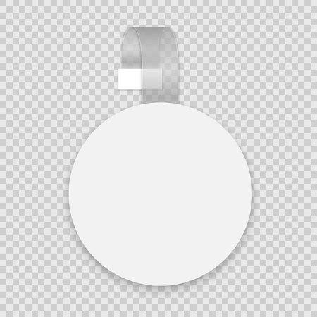 Vector blank round wobbler with transparent strip Vettoriali