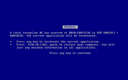 Blue Screen of Death (BSOD). System Crash Report Background. Vector Illustration. Illustration