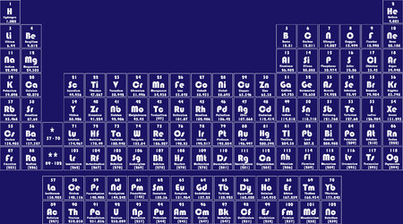 chemical periodic table of elements. Vetor illustration Illustration