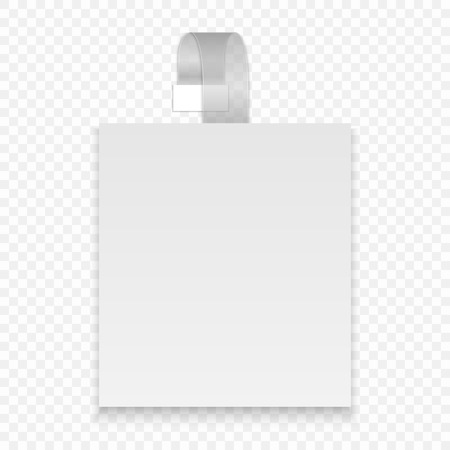 Vector blank square wobbler with transparent strip
