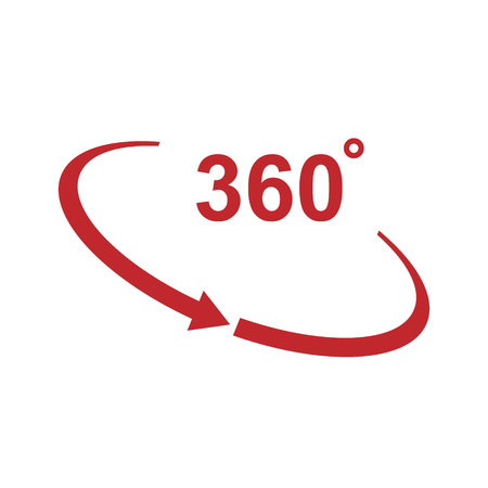 Rotation of 360 degrees vector icon