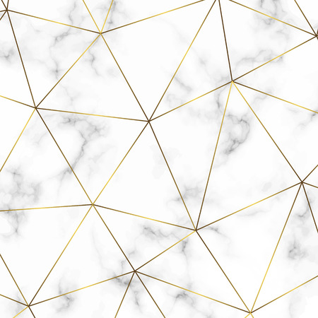 Golden geometric abstract pattern. Template for  birthday, wedding, anniversary,  business cards design Illustration
