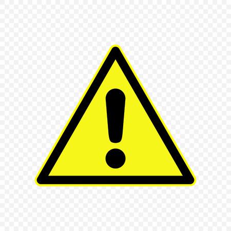 Generic caution Warning sign. Hazard symbols.  Illustration