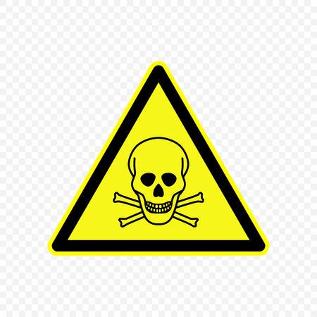toxic Warning sign. Hazard symbols.