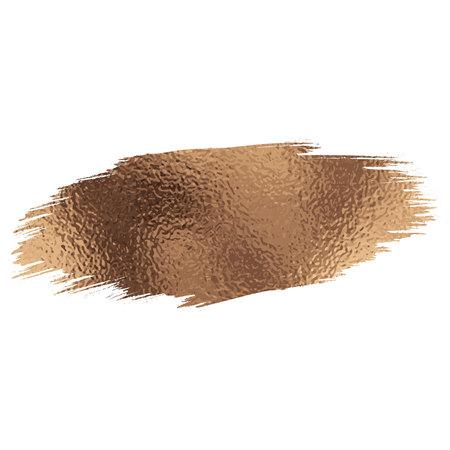 Rose gold foil brush stroke. Vector illustration Illustration