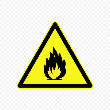 flammable Warning sign. Hazard symbols.