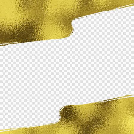 Gold foil brush stroke background