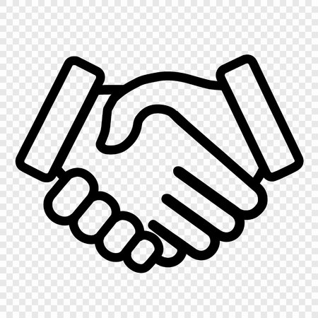 handshake icon. background for business and finance Иллюстрация