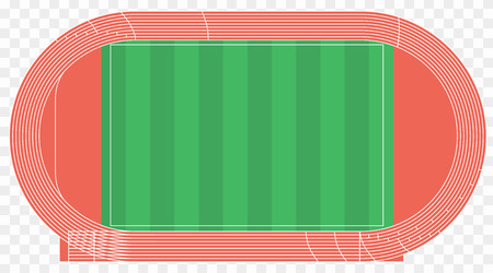 Running track, top view of sport stadium. Vector illustration. 矢量图像