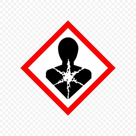 carcinogen Warning sign. Hazard symbols.