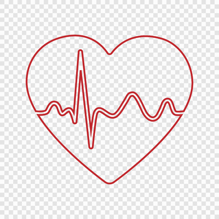 Heartbeat pulse icon for medical apps