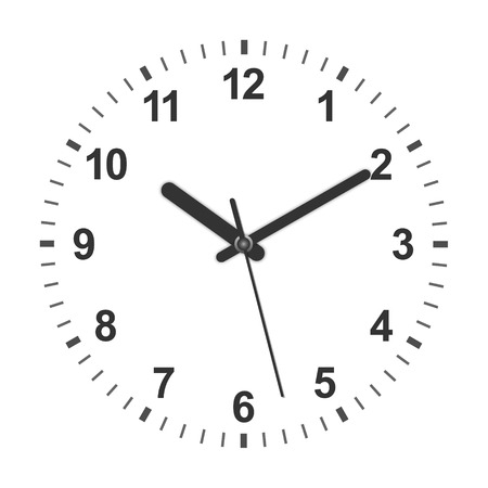 3d realistic circle shaped clock. Vector illustration