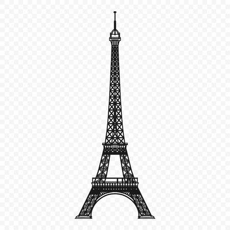Eiffel tower isolated vector illustration Banco de Imagens - 97229306