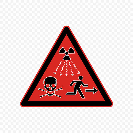 radiation high level Warning sign. Hazard symbols.