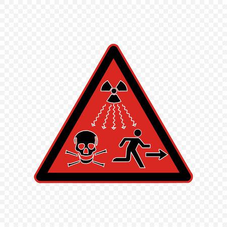 radiation high level Warning sign. Hazard symbols.