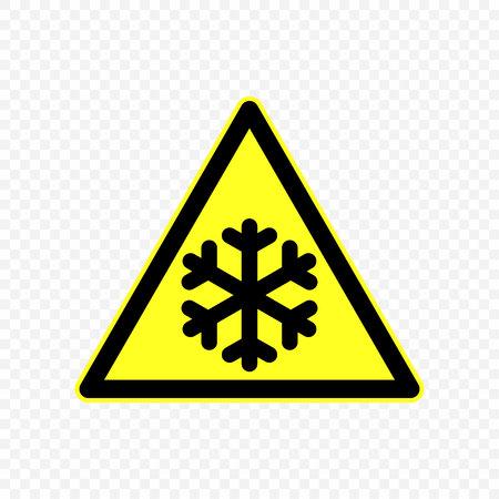 cold Warning sign. Hazard symbols.  Illustration
