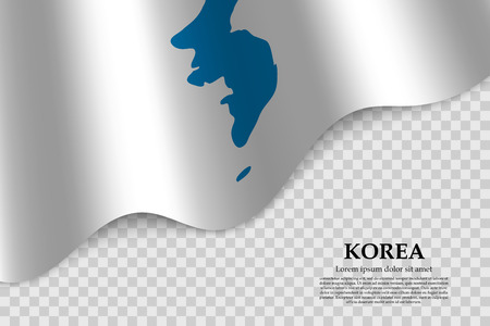 Unification Flag of Korea. Vector illustration