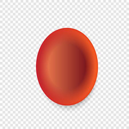 Red blood cell or erythrocytes Illustration