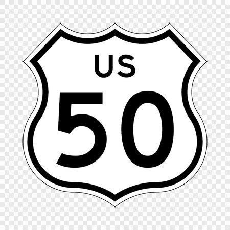 Stile della California dello scudo della strada principale degli Stati Uniti