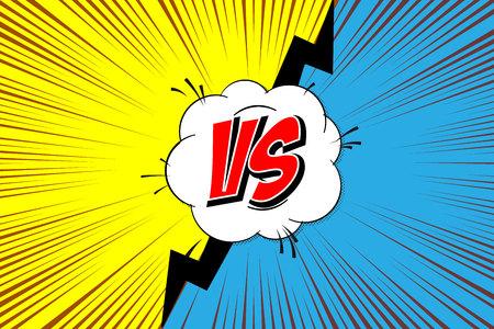 Versus, Fight backgrounds comics style design.