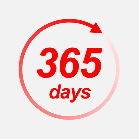 365 days  icon. Vector illustration Stock Illustratie
